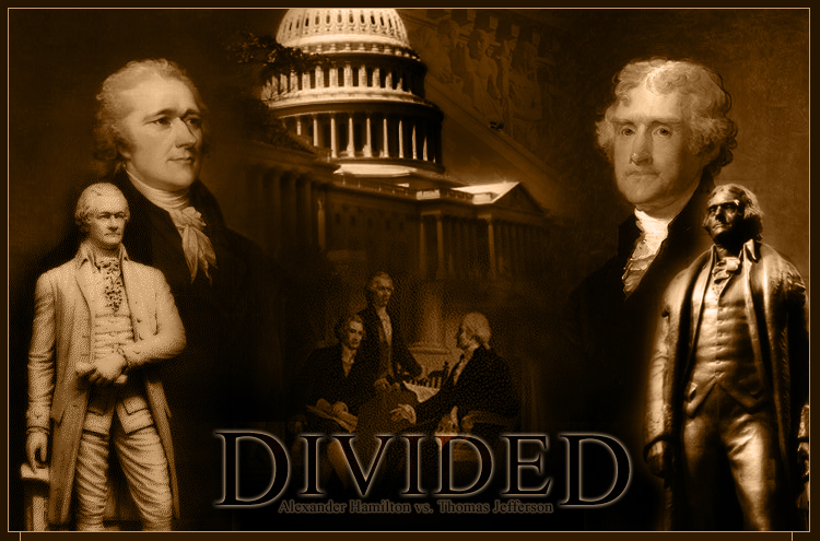 an analysis of the political philosophies of america by alexander hamilton and thomas jefferson The thomas jefferson papers at the library of treasury alexander hamilton traced the their differing political philosophies what was jefferson's.